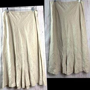 J. Jill skirt womens size 14 linen beige tan
